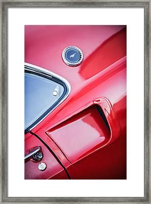 1969 Ford Mustang Mach 1 Side Emblem Framed Print