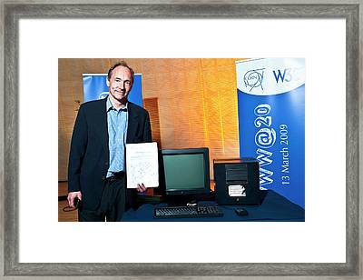 20 Years Of The World Wide Web Framed Print by Cern