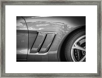 2010 Chevrolet Corvette Grand Sport Bw Framed Print