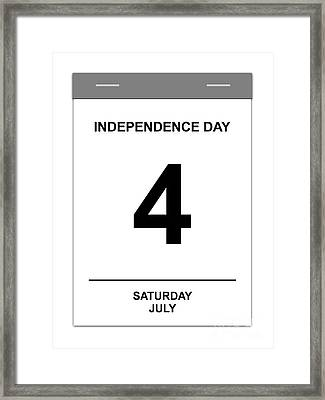 4th July Framed Print