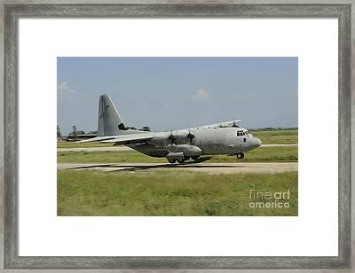 A C-130 Hercules Of The Italian Air Framed Print