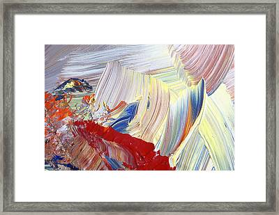 Acrylic Abstract Painting Framed Print by Donald  Erickson