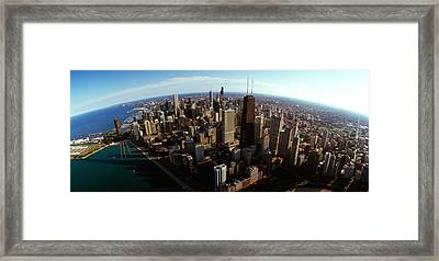 Aerial View Of A City, Chicago, Cook Framed Print by Panoramic Images