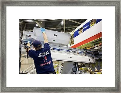 Aircraft Maintenance Framed Print by Jim West