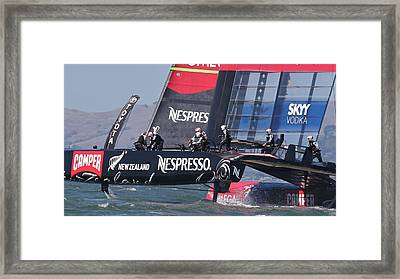 America's Cup San Francisco Framed Print by Steven Lapkin