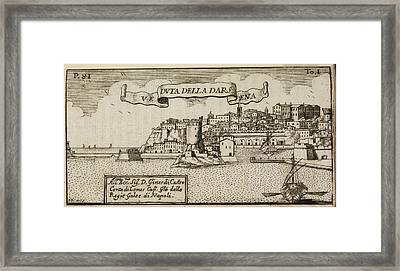 An Illustration Of 18th Century Naples Framed Print by British Library