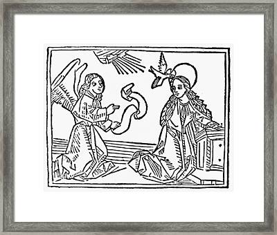 Annunciation Framed Print by Granger