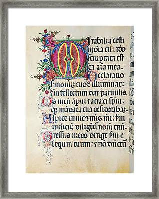 Anonymous Sienese Painter, Psalter Framed Print