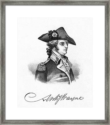 Anthony Wayne (1745-1796) Framed Print