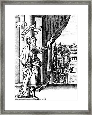 Archimedes Framed Print