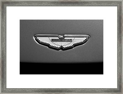 Aston Martin Emblem Framed Print