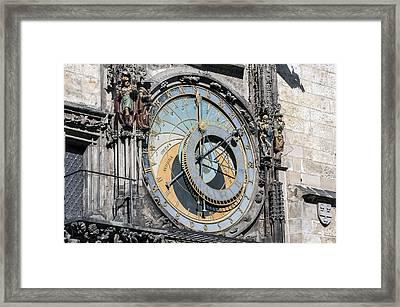 Astronomical Clock. Prague. Framed Print by Fernando Barozza