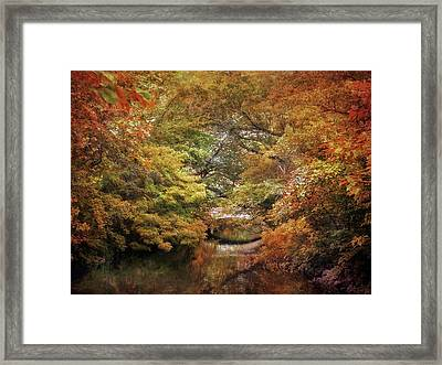 Autumn Canvas Framed Print by Jessica Jenney
