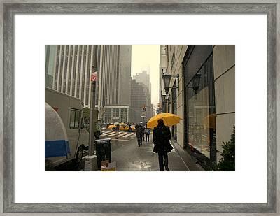 5 Avenue Framed Print
