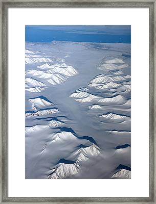 Baffin Island In The Arctic Northern Canada Framed Print