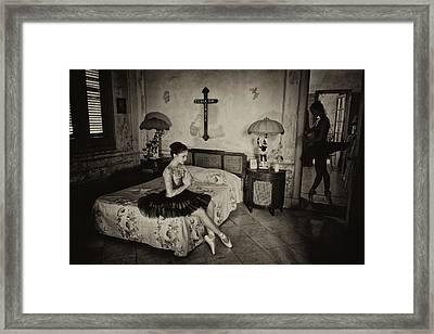 Ballerinas In Cuba Framed Print