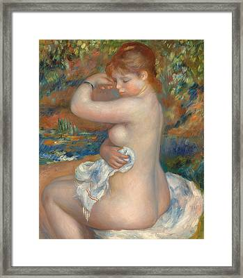 Bather Framed Print by Pierre Auguste Renoir
