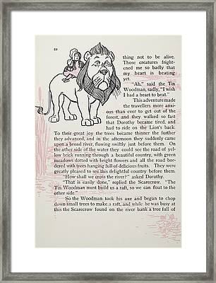 Baum The Wizard Of Oz Framed Print by Granger