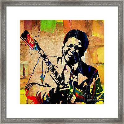 Bb King Collection Framed Print by Marvin Blaine