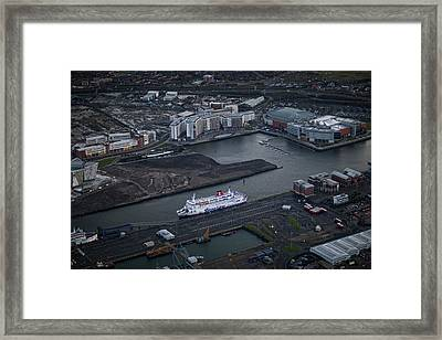 Belfast At Dawn, Northern Ireland Framed Print by Colin Bailie