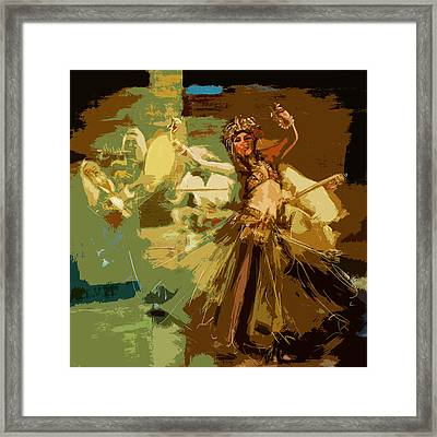Abstract Belly Dancer 16 Framed Print by Corporate Art Task Force