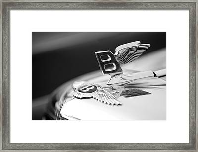 Bentley Hood Ornament Framed Print by Jill Reger