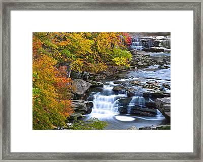 Berea Falls Framed Print by Frozen in Time Fine Art Photography