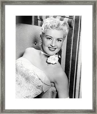 Betty Grable Framed Print by Silver Screen