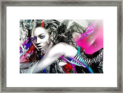 Beyonce Framed Print by Bogdan Floridana Oana