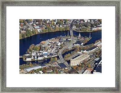 Biddeford And Saco, Maine Framed Print by Dave Cleaveland
