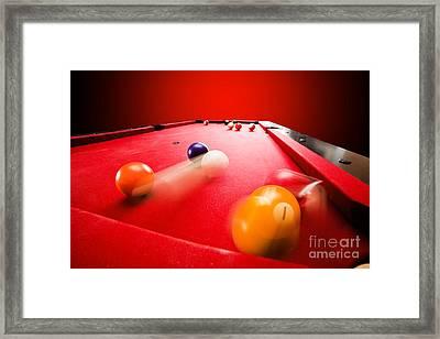 Billards Pool Game Framed Print by Michal Bednarek
