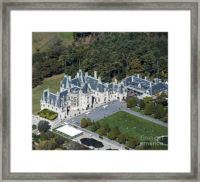 Biltmore Estate Aerial Photo Framed Print by David Oppenheimer