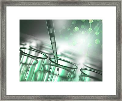Biochemistry Research Framed Print by Tek Image