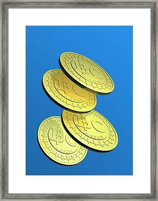 Bitcoins Framed Print