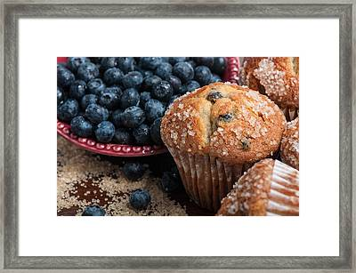 Blueberry Muffins Framed Print by Brandon Bourdages