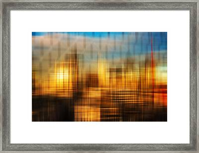 Blurred Abstract Colorful Background Framed Print by Matthew Gibson