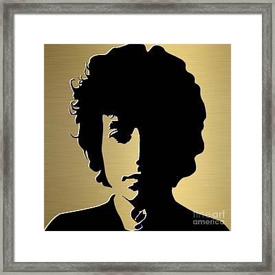Bob Dylan Gold Series Framed Print by Marvin Blaine