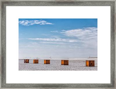 5 Box Framed Print by Peter Tellone