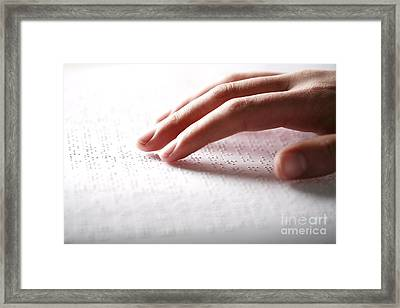 Braille Reading Framed Print by Mauro Fermariello