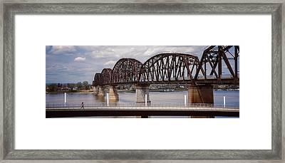 Bridge Across A River, Big Four Bridge Framed Print