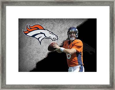 Broncos Peyton Manning Framed Print by Joe Hamilton