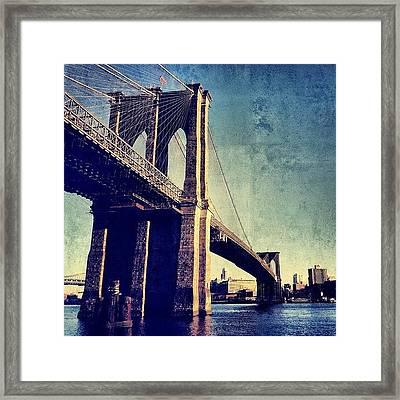 Brooklyn Bridge - New York Framed Print