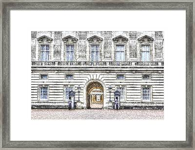 Buckingham Palace Snow Framed Print by David Pyatt
