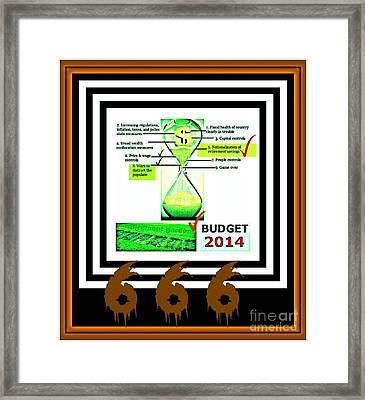 Budget 6 6 6 Framed Print