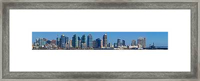 Buildings At The Waterfront, San Diego Framed Print by Panoramic Images