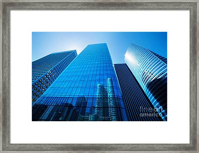 Business Skyscrapers Framed Print by Michal Bednarek