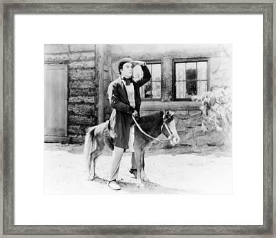 Buster Keaton Framed Print