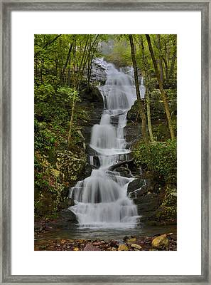 Buttermilk Falls Framed Print by Stephen  Vecchiotti