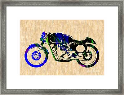 Cafe Racer Motorcycle Framed Print by Marvin Blaine