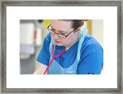Cardiology Intensive Care Unit Framed Print by Life In View